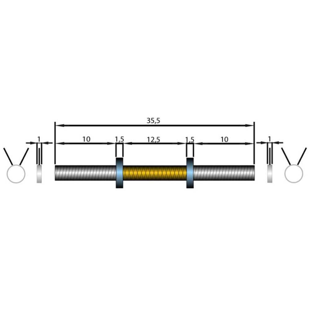 Davina Dumbbell Set: Dumbbell Bar Set With Spring Collars Weight: 2 X 2.5 KG