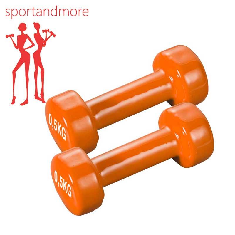 Davina Dumbbell Set: SPORT&MORE Aerobic Dumbbell Set Color: Orange Weight: 2 X