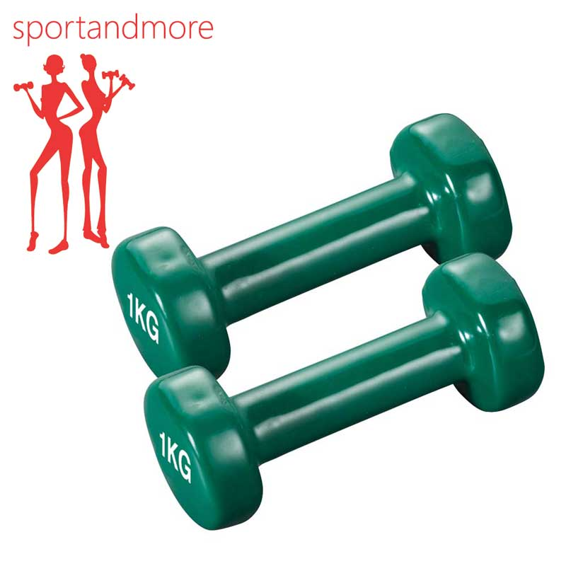 Davina Dumbbell Set: SPORT&MORE Aerobic Dumbbell Set Color: Green Weight: 2 X 1