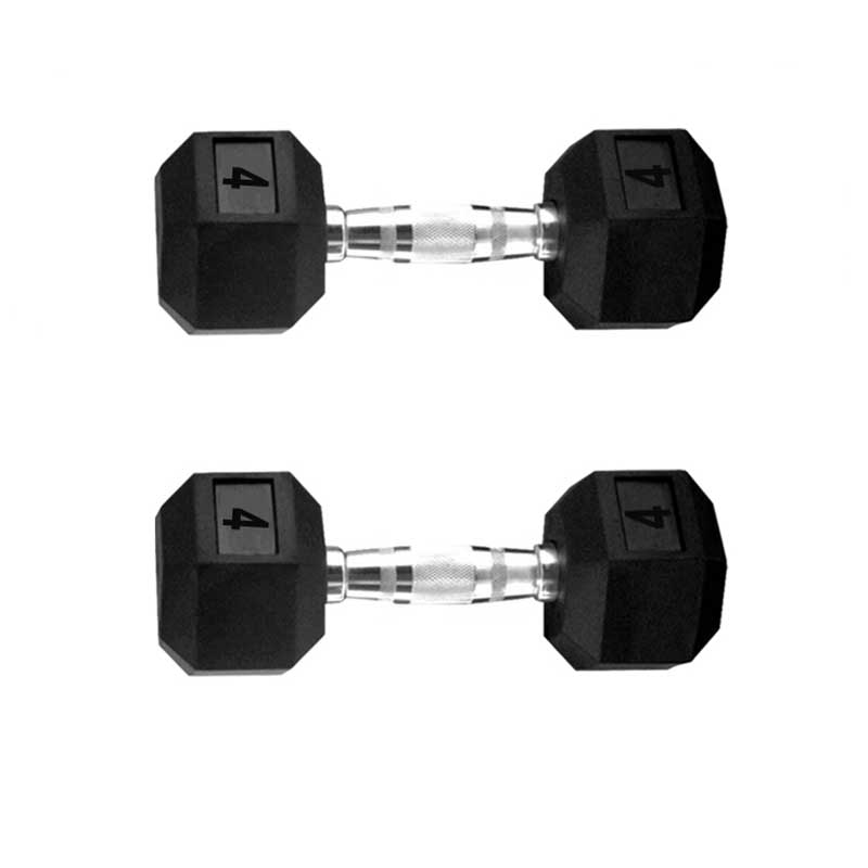 Davina Dumbbell Set: SPORT&MORE Hex Dumbbell Set With Rubber Coating Weight: 2