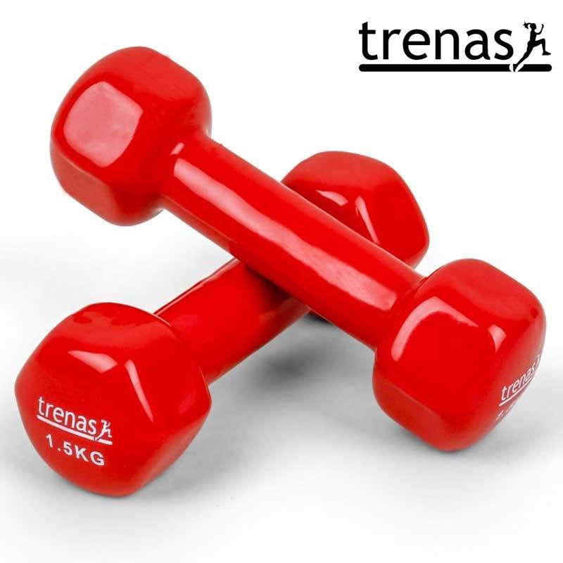 Davina Dumbbell Set: TRENAS Aerobic Dumbbell Set Color: Red Weight: 2 X 1.5 KG